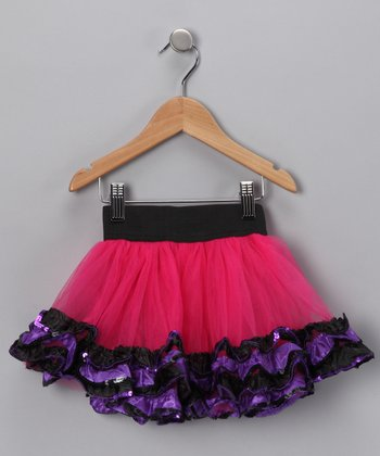 Hot Pink Sequin Pettiskirt