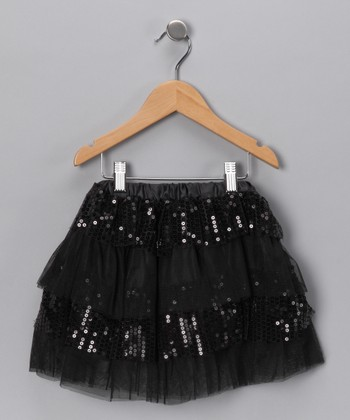 Black Layered Sequin Tutu