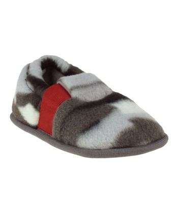 Charcoal & Gray Elastic Band Trim Slippers - Kids