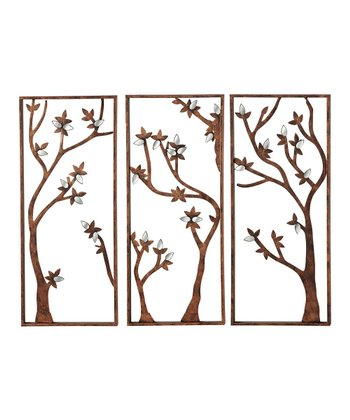 Tri-Panel Tree Wall Art