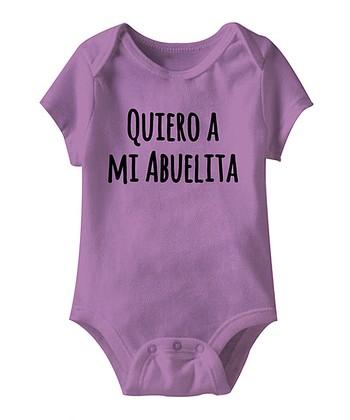 Lavender 'Quiero a Mi Abuelita' Bodysuit - Infant