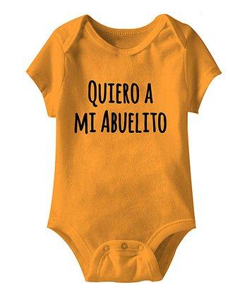 Mandarin Orange 'Quiero a Mi Abuelito' Bodysuit - Infant