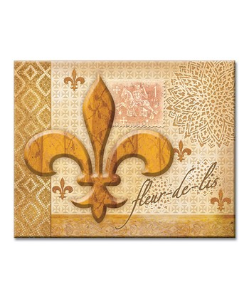 Golden Fleur-de-Lis Cutting Board