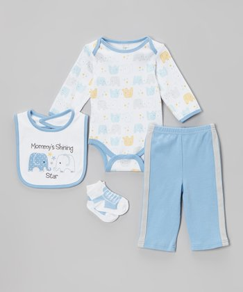 Blue 'Mommy's Shining Star' Layette Set - Infant