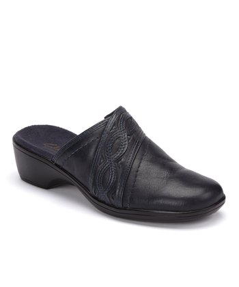 Navy May Oval Mule - Women