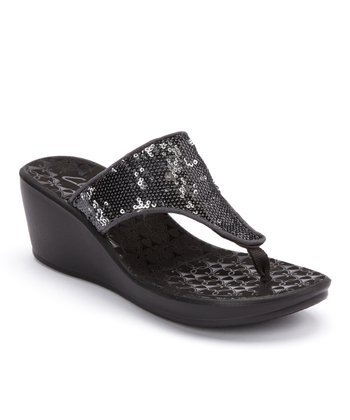 Pewter Mimic Jane Wedge Sandal