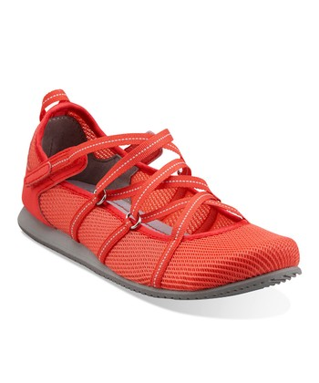 Coral Poppy Bloom Athletic Shoe