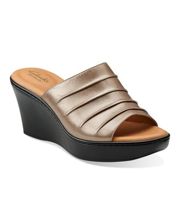 Platinum Puzzle Peace Wedge Sandal - Women