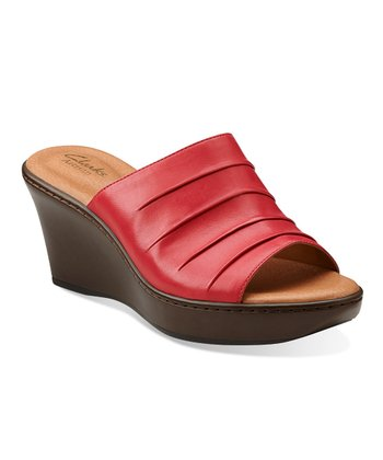 Coral Puzzle Peace Wedge Sandal - Women