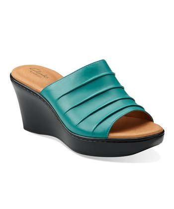 Turquoise Puzzle Peace Wedge Sandal - Women