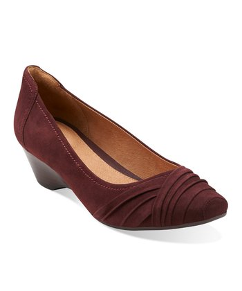 Burgundy Suede Ryla King Pump - Women
