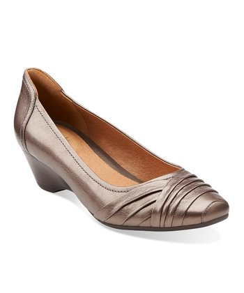 Pewter Metallic Ryla King Pump - Women