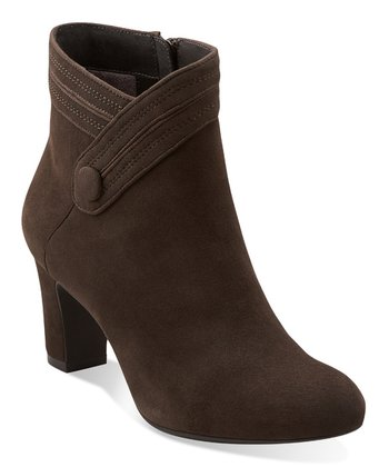 Dark Gray Suede Tamryn Season Ankle Boot - Women