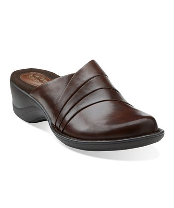 Dark Brown Azlyn Dream Leather Mule