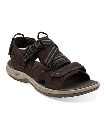 Dark Brown Suede Wave.Nomad Sports Sandal