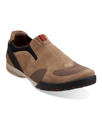 Taupe Suede Wave.Nimble Slip-On Shoe - Men