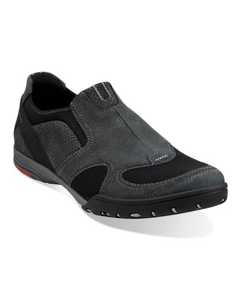 Black Suede Wave.Nimble Slip-On Shoe - Men