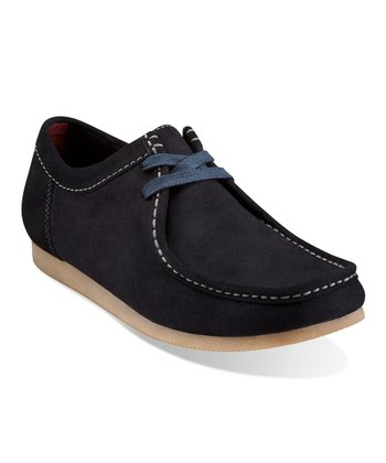Navy Suede Gunn Lace-Up Shoe