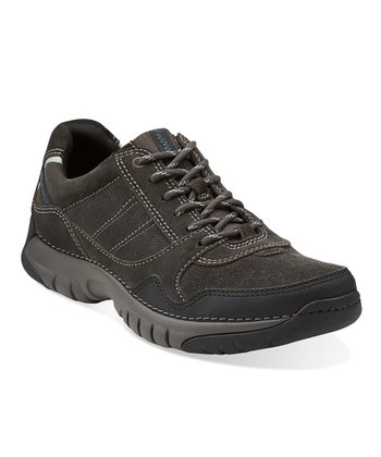 Dark Gray Roebling Asym Lace-Up Shoe - Men