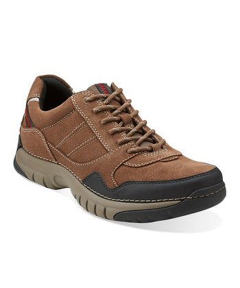 Brown Suede Roebling Asym Lace-Up Shoe - Men