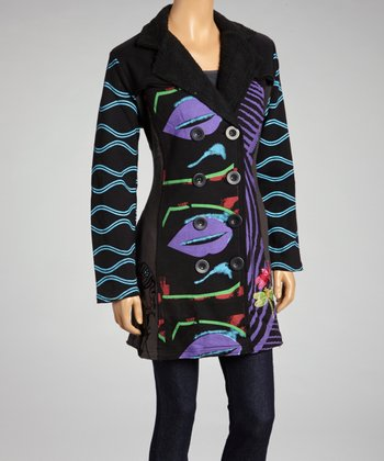 Purple & Black Pop Art Jacket