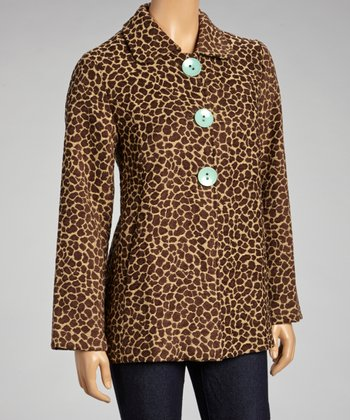 Brown Safari Lined Jacket