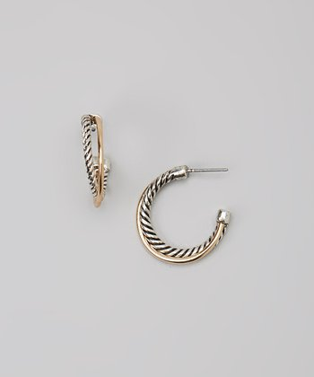 Gold & Silver Twist Earrings