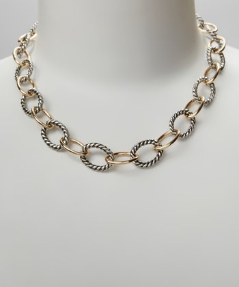Gold & Silver Twist Link Necklace
