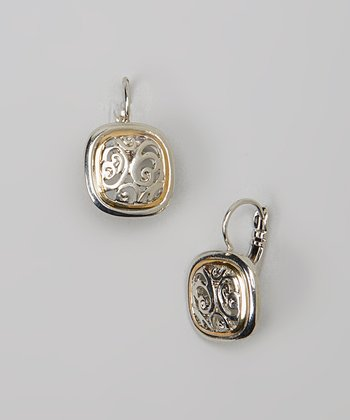 Gold & Silver Filigree Square Earrings