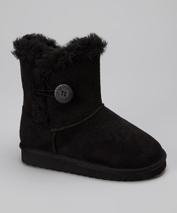 Black Button Bootie