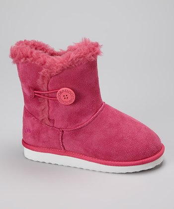 Pink Button Bootie