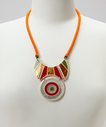 Orange Nazar Necklace