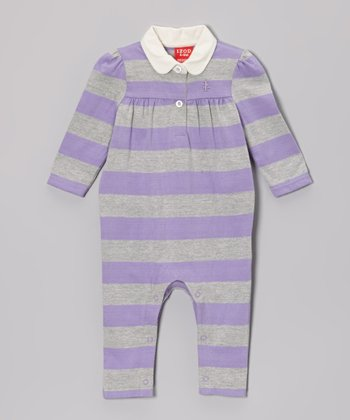 Purple Stripe Playsuit - Infant