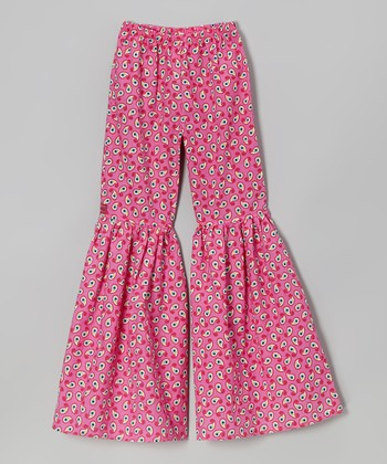 Pink Paisley Bell-Bottom Pants - Toddler & Girls