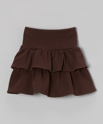 Brown Ruffle Skirt - Toddler & Girls