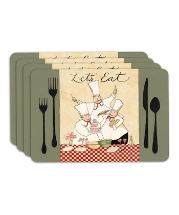 'Let's Eat' Place Mat - Set of Four