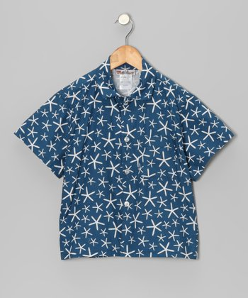 Blue Sea Star Button-Up - Toddler & Boys