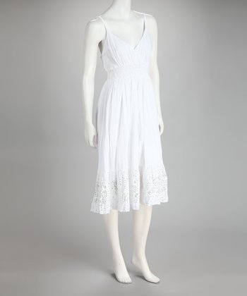 White Embellished Surplice Dress & Bolero
