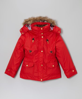 Fruit Punch System Jacket & Faux Fur Vest - Girls
