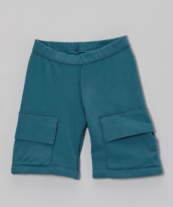 Midnight Organic Cargo Shorts - Toddler & Kids