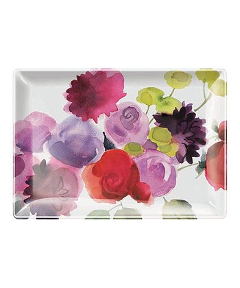 Dahlia Rose Small Rectangular Tray