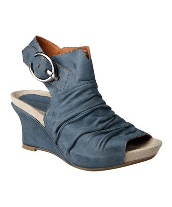 Moroccan Blue Bonaire Too Wedge - Women