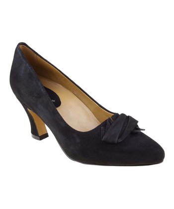 Black Prantini Suede Pump