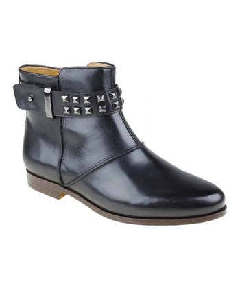 Black Treano Studded Bootie
