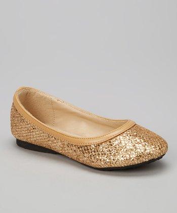 Gold Glitter Flat