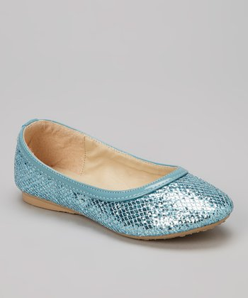 Turquoise Glitter Flat