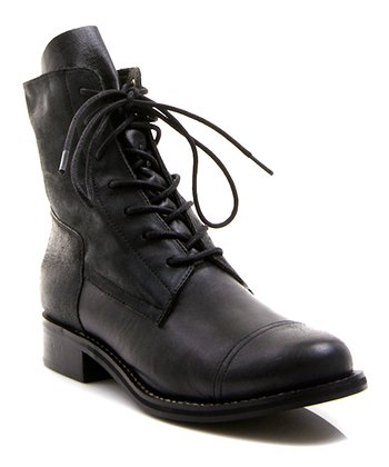 Black Leather Bijoux Boot
