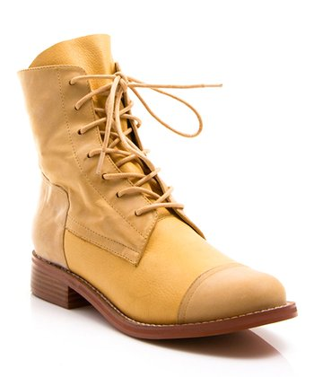 Yellow Leather Bijoux Boot