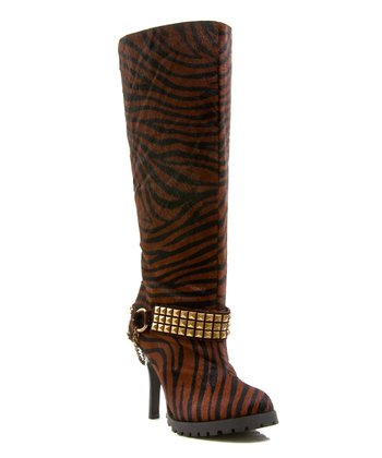 Tiger Pony Hair Crackalckin Boot