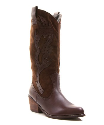 Brown Leather Howdy Boot